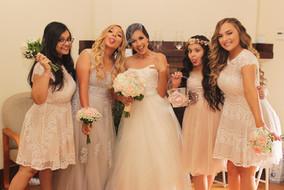 Claudia and bridesmaids