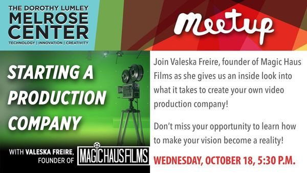 Orlando Video MeetUp: How to Start a Production Company
