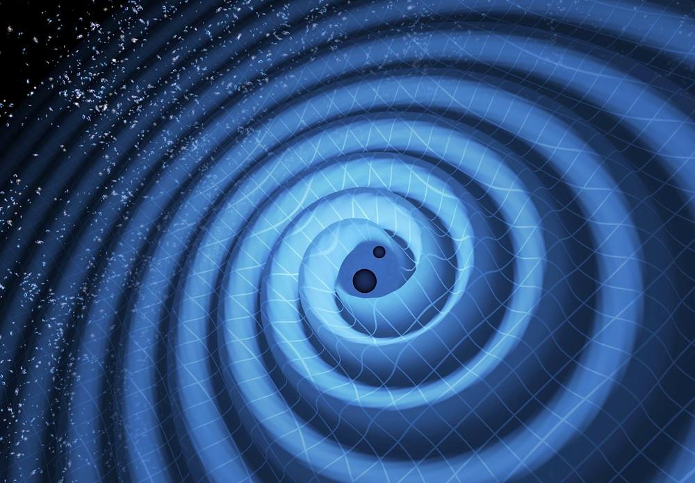 Спиральный танец черных дыр. LIGO/ T. Pyle