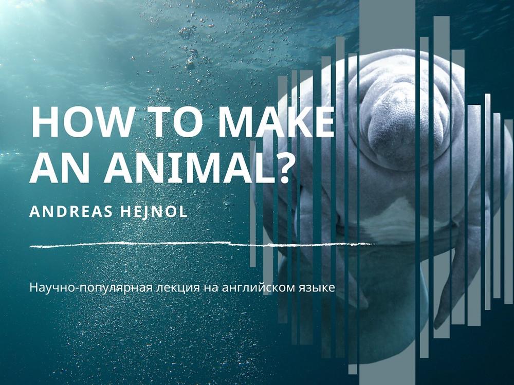 """Афиша лекции """"Как создать животное?"""""""