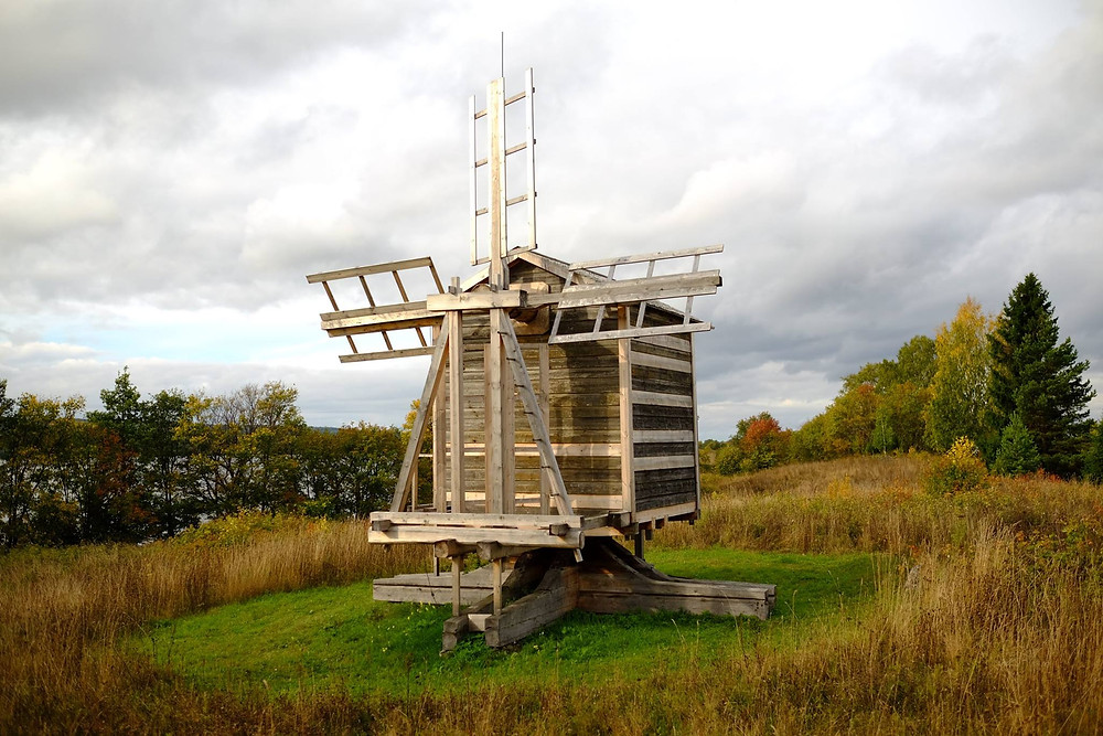 Ветряная мельница из деревни Гафостров. 1886
