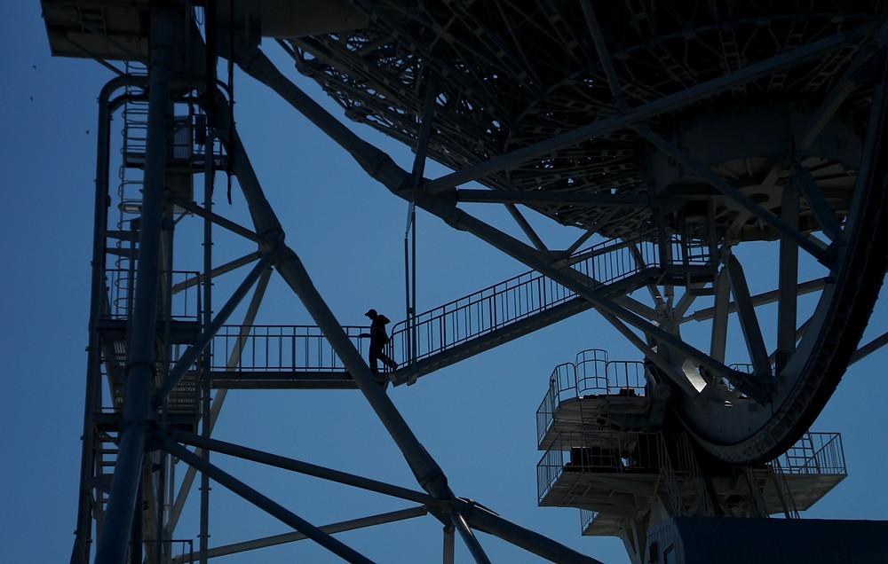 Радиотелескоп РТ-32 комплекса «Квазар-КВО» Института прикладной астрономии РАН. Радиоастрономическая обсерватория «Зеленчукская».
