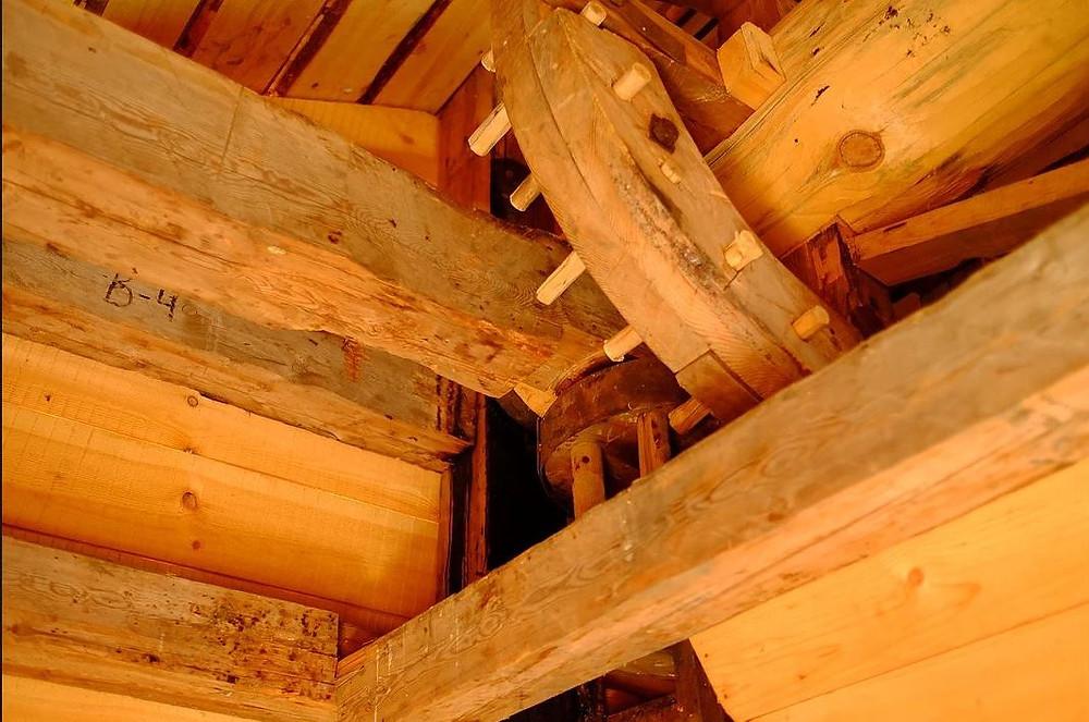 Внутри мельницы из Гафострова