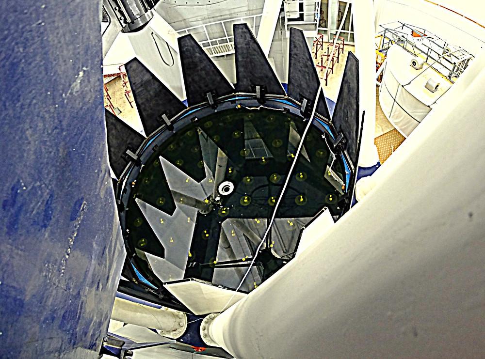 Главное зеркало телескопа БТА Специальной астрофизической обсерватории РАН. Процесс замены