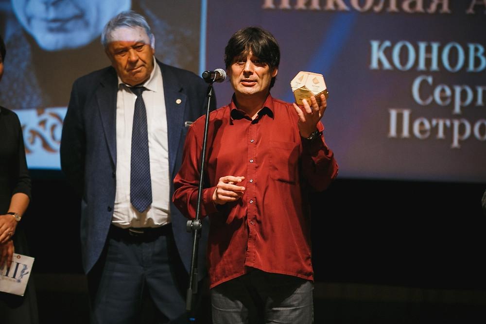 Николай Андреев на церемонии награждения Золотой медалью РАН за выдающиеся достижения в области пропаганды научных знаний.  Фото с сайта премии