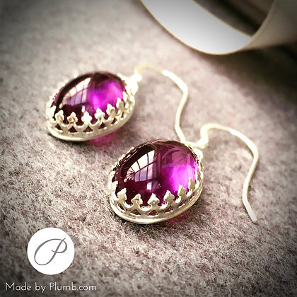 Indian Amethyst Sterling Drops