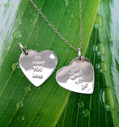 Sterling 'Love what you do...' Necklace