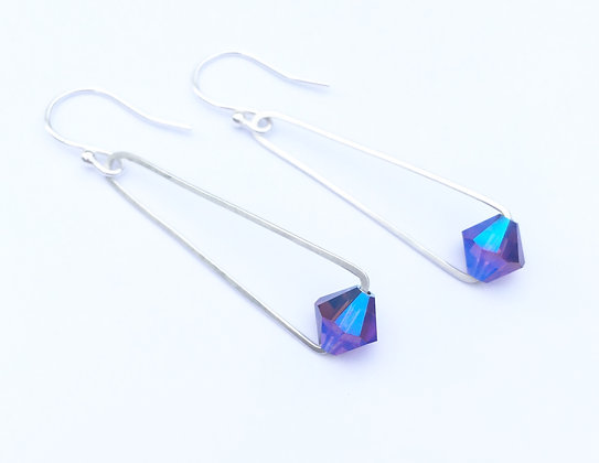 Handcrafted Sterling & Swarovski - Purple Velvet