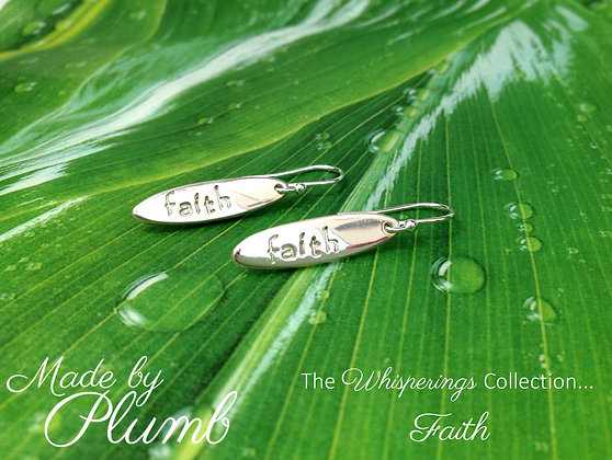 Handmade 'Faith' Earrings - Whisperings Collection