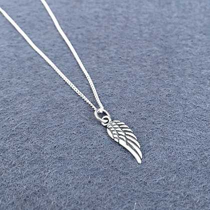 Sterling Feathered Angel Wing Necklace