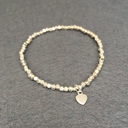 'Silver Hematine' Faceted Cube Bracelet