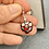 Thumbnail: Beautiful Czech Glass Ruby Red Handcrafted Heart Drops