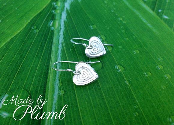 Handcrafted 'Generations' Heart Earrings
