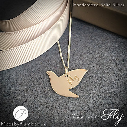 Handcrafted 'You can Fly' Silver Pendant