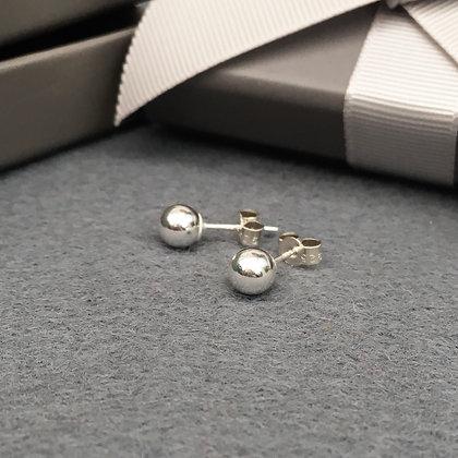Elegant Sterling Silver Studs