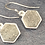 Thumbnail: Silver Grey Druzy Quartz Necklace & Earring Set