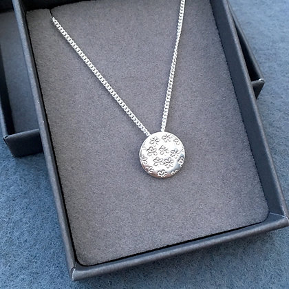 'Ditsy Daisy' Sterling Silver Handcrafted Necklace