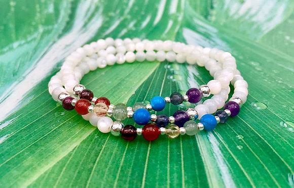 Chakra Balance Bracelet - Mother of Pearl