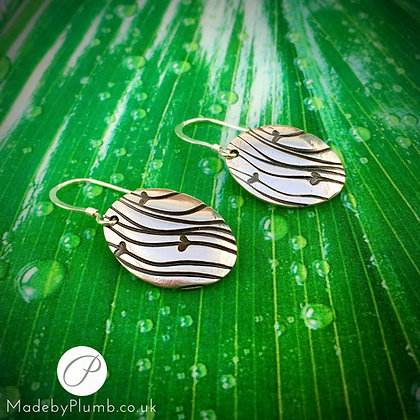 Handcrafted Fine Silver 'Little Ripples of Love' Drop Earrings