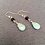 Thumbnail: Fire & Water - Aquamarine & Lava Drop Earrings