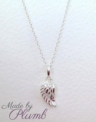 'Angel Wings' Sterling Silver Necklace