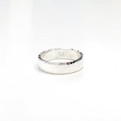 Self-care 'You are Loved' handcrafted Sterling Silver Ring