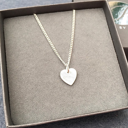 Sterling Silver 'Hope' Heart Necklace