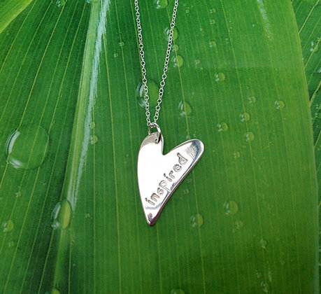 'Your Message'' Handcrafted Fine Silver Necklace
