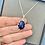 Thumbnail: Beautiful Midnight Blue Sodalite Pendant with Love Heart Mount