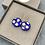 Thumbnail: Beautiful Czech Glass Royal Blue Polka Dot Drop Earrings