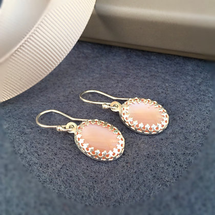 Blush Pink Mother of Pearl Drop Earrings
