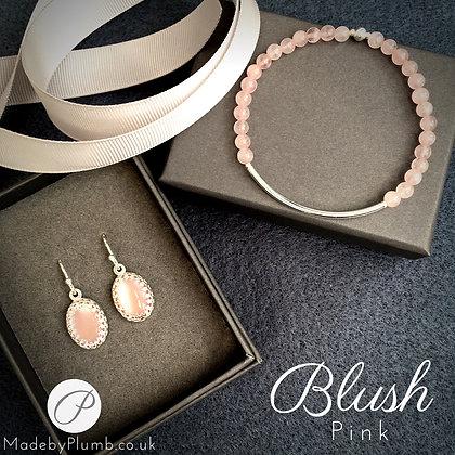 Blush Pink Bracelet & Earring Set