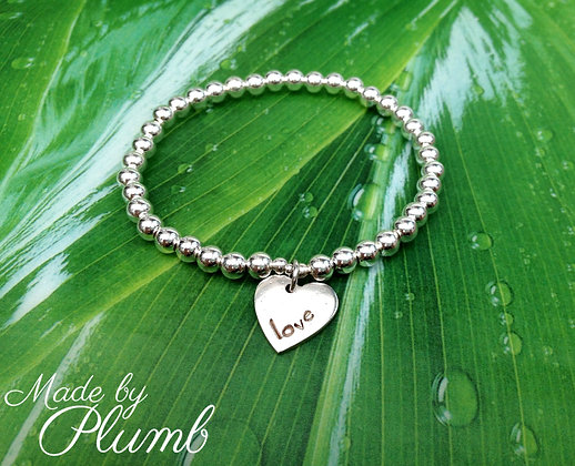 Sterling Silver Bracelet handcrafted Silver Charm