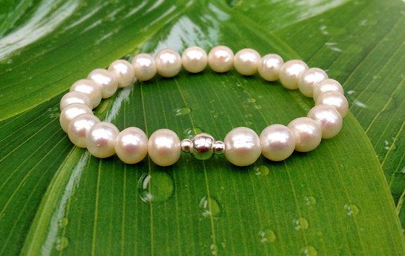 Genuine Freshwater Pearl & Sterling Bracelet