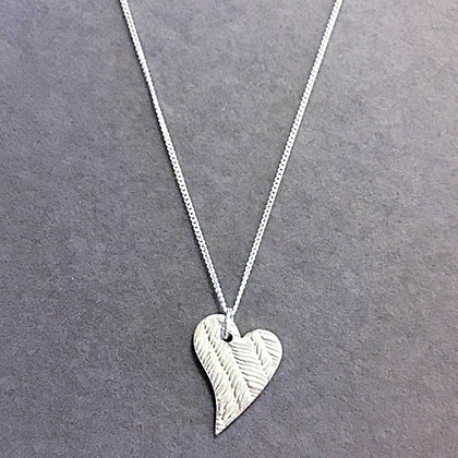 Handcrafted Pure Silver Heart Pendant