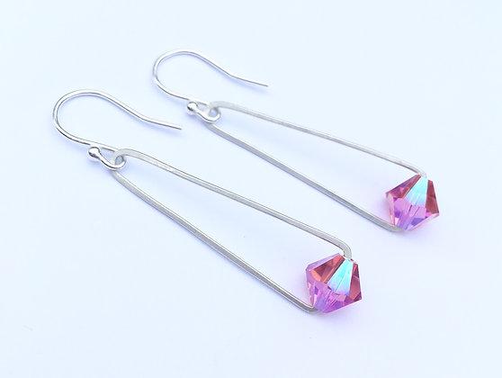 Handcrafted Sterling & Swarovski - Rose Pink
