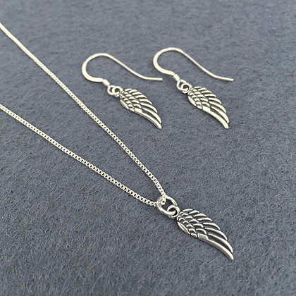 Sterling Feathered Angel Wing Set