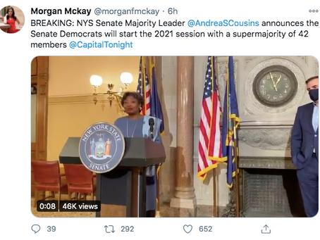 NY Senate Democrats win historic supermajority
