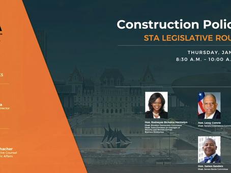 Willett President Perry M. Ochacher Moderates STA Legislative Roundtable on Construction Policy