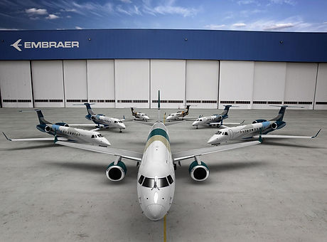 Embraer aircraft family commercial and privat jets