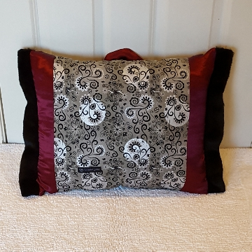 black and silver Muffy vagina pillow 2