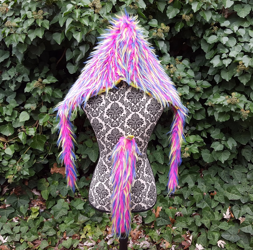 short pink spike hood set