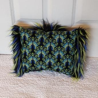 blue peacocks mini Muffy vagina pillow 2
