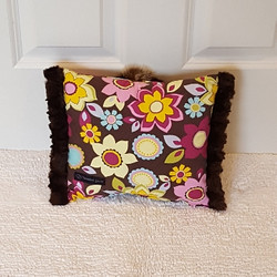 brown floral mini Muffy vagina pillow 2.