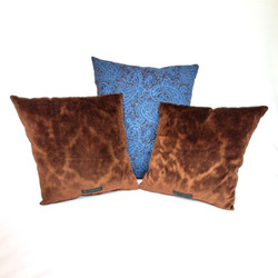 Throw Pillows gorgeous blue and brown