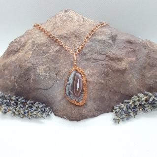 Electroformed pendant necklace botswanan