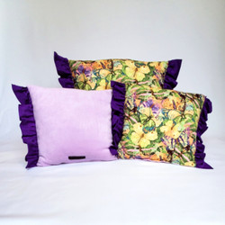 Throw Pillows purple garden butterflies.