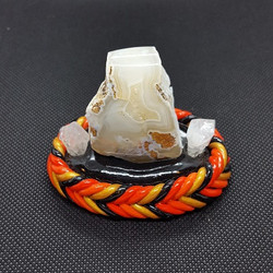 banded agate and quartz orange
