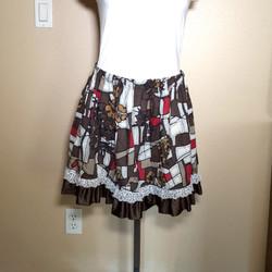 Balinese fabric skirt brown