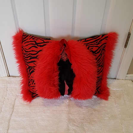 Muffy Pillow red tiger front